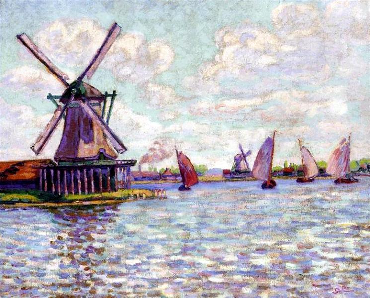 Moulins en Hollandee, 1904 - Armand Guillaumin