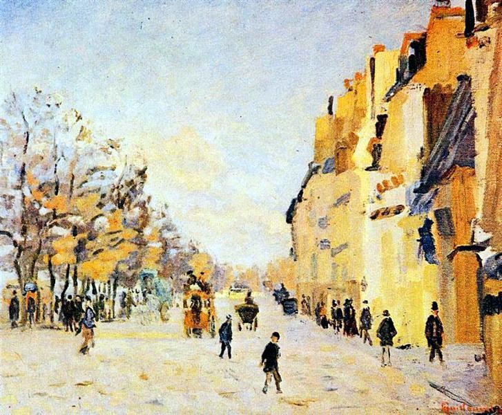 Quai de Bercy, effets de neige, 1874 - Armand Guillaumin