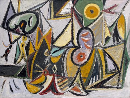 Enigmatic Combat, 1936 - 1937 - Arshile Gorky