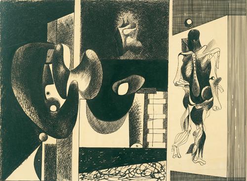 Nighttime, Enigma and Nostalgia, c.1931 - c.1932 - Arshile Gorky