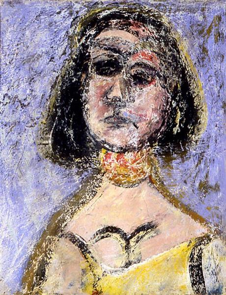 Woman with Necklace Marquette, 1936 - Arshile Gorky