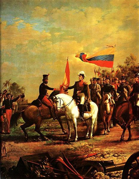 Entrega de la bandera al Batallon sin Nombre - Артуро Міхелена