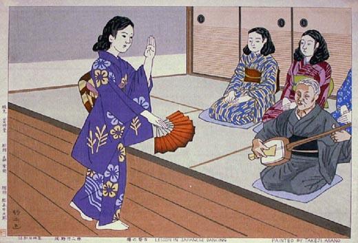 Lesson in Japanese Dancing, 1949 - Asano Takeji