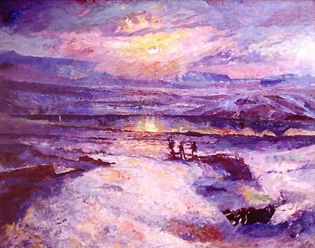 Autumn Sunlight, Öskjuhlíð, 1920 - Ásgrímur Jónsson