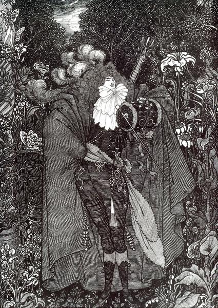 A Nightpiece, 1894 - Aubrey Beardsley