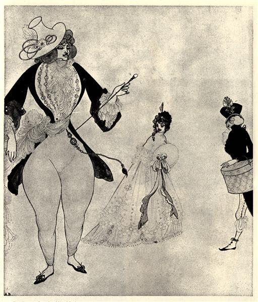 Albert in search of his ideals, 1897 - Aubrey Beardsley