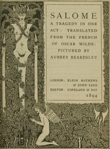 Book illustration, 1894 - Aubrey Beardsley