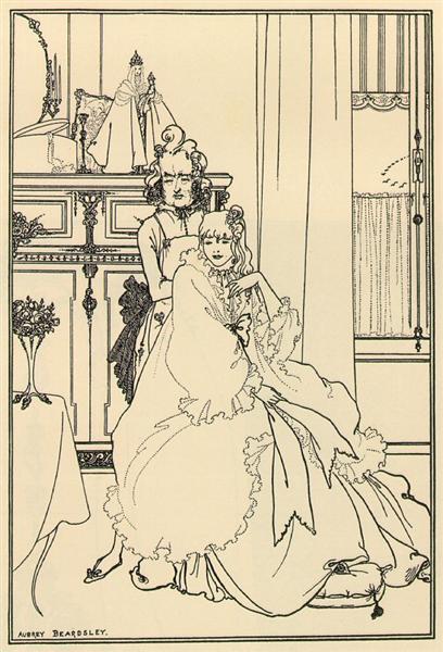 Coiffing, 1896 - Aubrey Beardsley