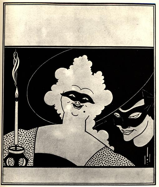 Frontispiece for 'The Yellow Book: An Illustrated Quarterly', 1894 - Aubrey Beardsley