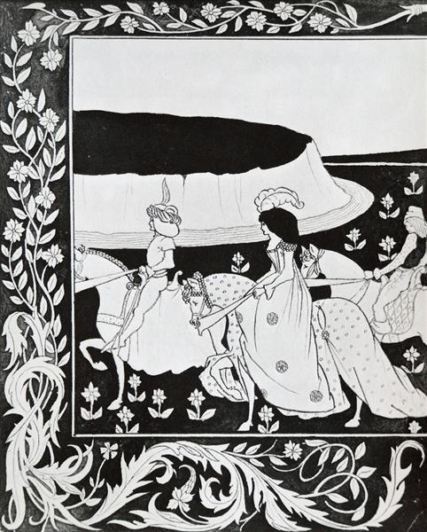 How Queen Guenever rode on Maying I, 1893 - 1894 - Aubrey Beardsley