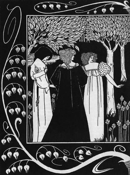 How Sir Launcelot was Known by Dame Elaine I, 1893 - Aubrey Beardsley