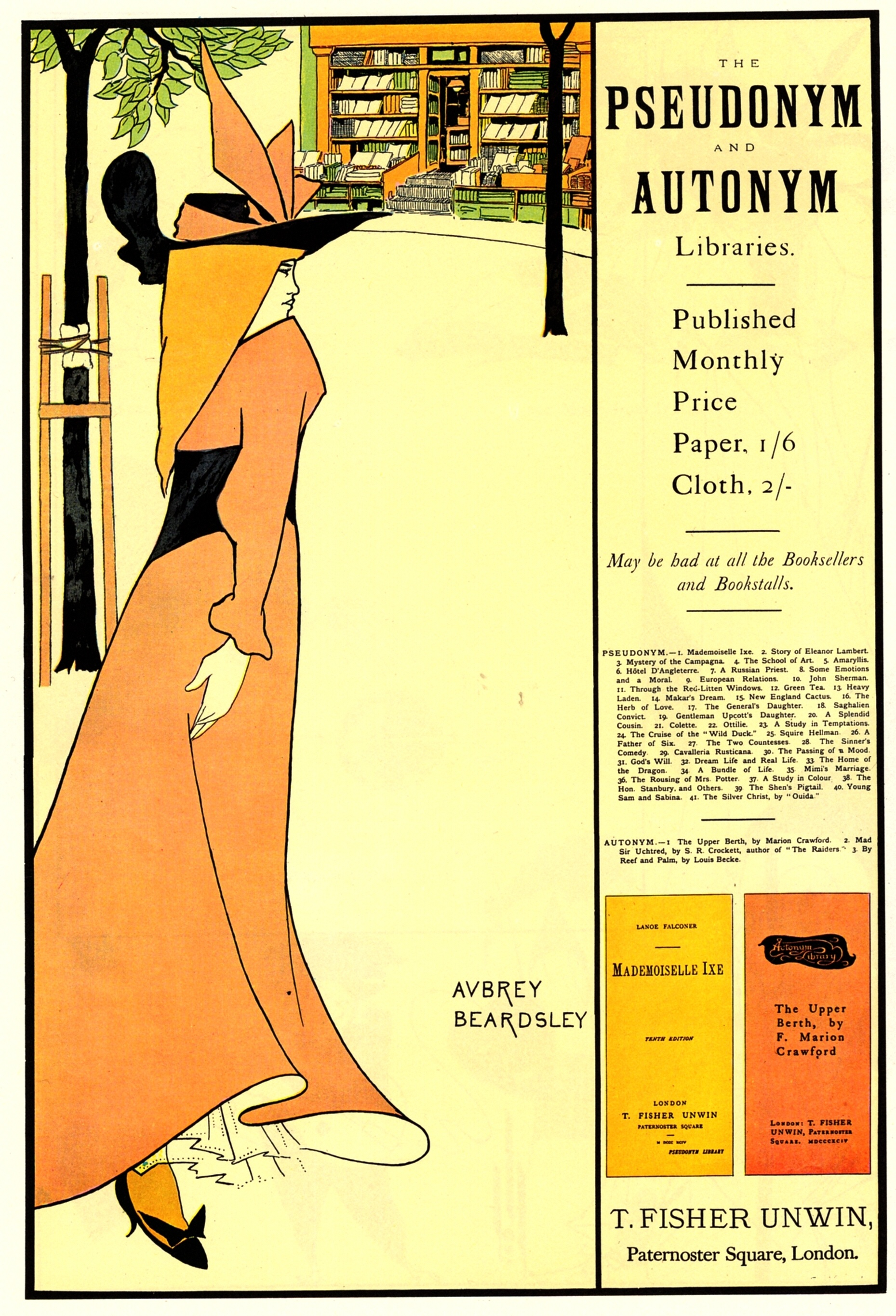 Publicity poster for  The Yellow Book Aubrey Beardsley The Yellow Book