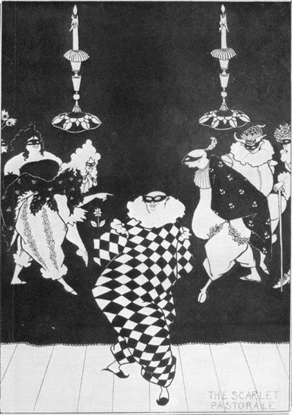 Scarlet Pastorale, 1894 - Aubrey Beardsley