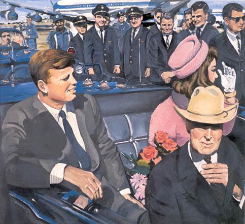 Kennedy Motorcade, 1964 - Audrey Flack