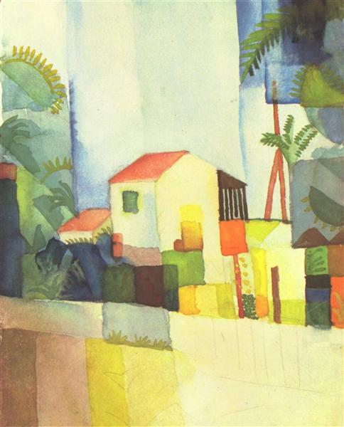 Bright House, 1914 - August Macke