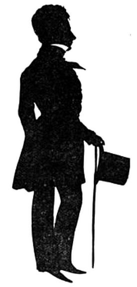 H.W. Longfellow, 1840 - Auguste Edouart