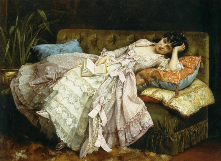Sweet Doing Nothing, 1877 - Auguste Toulmouche