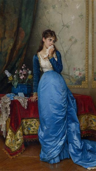 The Letter, 1879 - Auguste Toulmouche