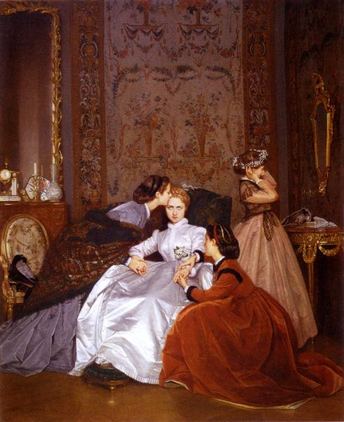 The Reluctant Bride, 1866 - Auguste Toulmouche