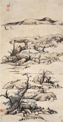 Landscape (Ni Zan Style) - Bada Shanren