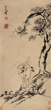 Pine and Deer - Bada Shanren