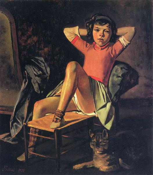 Girl and Cat, 1937 - Balthus