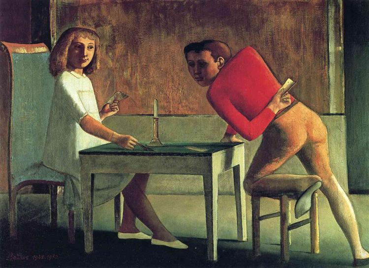 The cardgame, 1950 - Balthus
