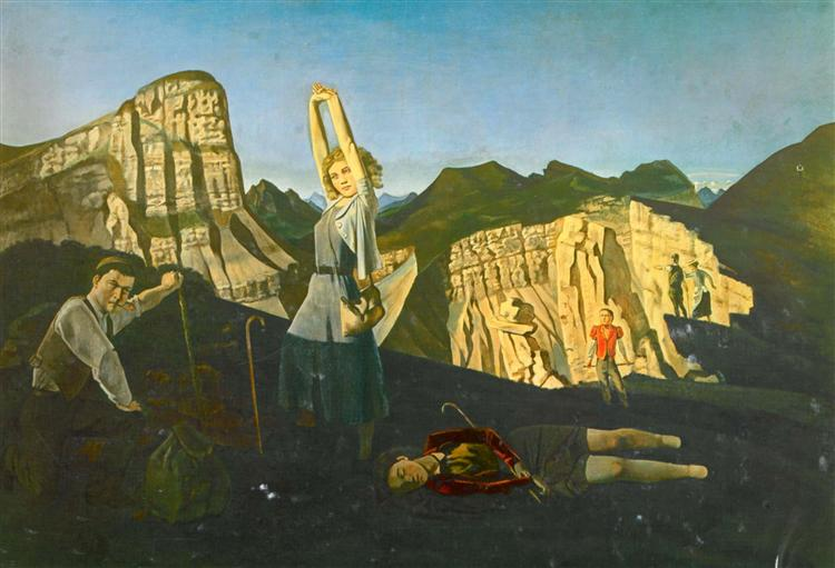 The mountain, 1937 - Balthus - WikiArt.org