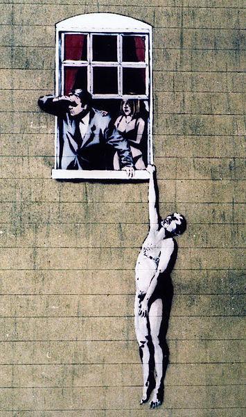 Naked Man - Banksy