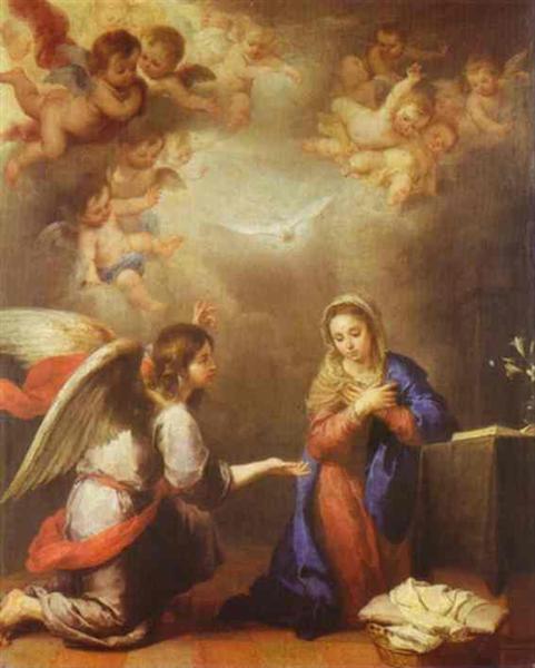 Annunciation, c.1660 - 1665 - Bartolome Esteban Murillo