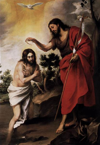 Baptism of Christ, c.1665 - Bartolome Esteban Murillo