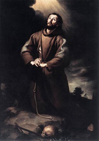 St. Francis of Assisi at Prayer, 1645 - 1650 - Bartolome Esteban Murillo