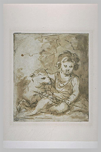 St. John the Baptist with a lamb, 1670 - Bartolome Esteban Murillo