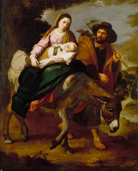 The Flight into Egypt, 1647 - 1650 - Bartolome Esteban Murillo