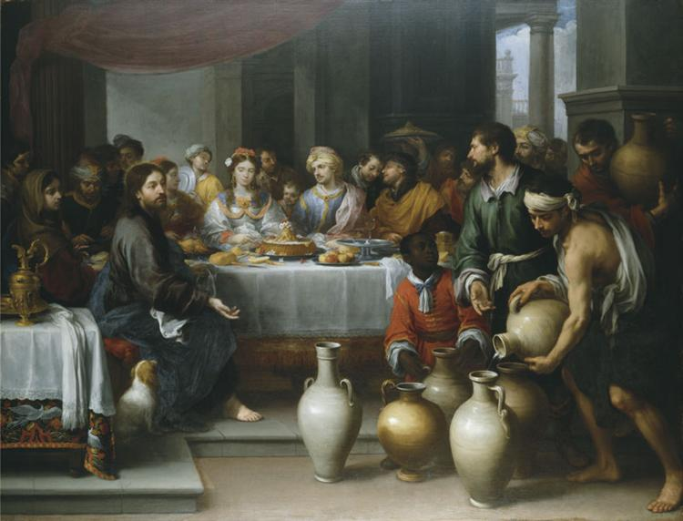 The Marriage Feast at Cana, c.1675 - Bartolome Esteban Murillo