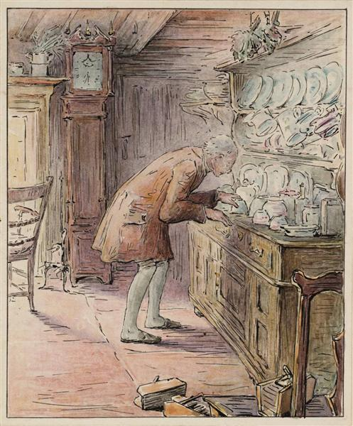 The Tailor Hears Noises, 1902 - Beatrix Potter