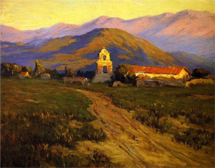 Sunrise, Mission at Pala near San Luis Rey, 1898 - Бенджамін Браун
