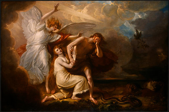 The Expulsion of Adam and Eve from Paradise - West Benjamin