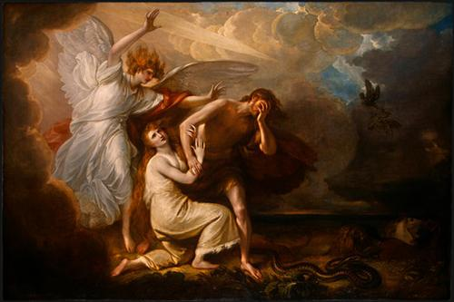 The Expulsion of Adam and Eve from Paradise - Benjamin West
