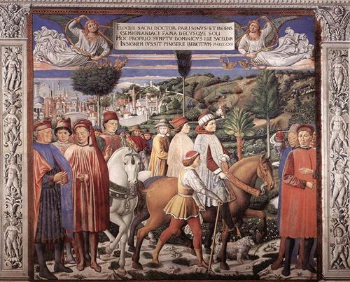 St. Augustine Departing for Milan - Benozzo Gozzoli