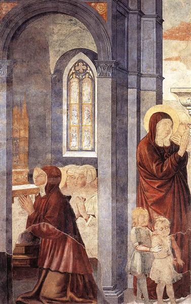 St. Augustine Leaving His Mother, 1464 - 1465 - Benozzo Gozzoli