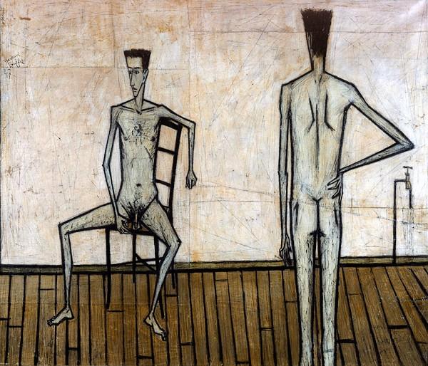 Deux hommes nus, 1947 - Bernard Buffet