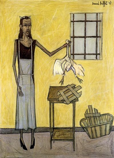 Femme au poulet, 1947 - Bernard Buffet