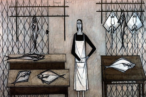 La poissonnerie, 1951 - Bernard Buffet
