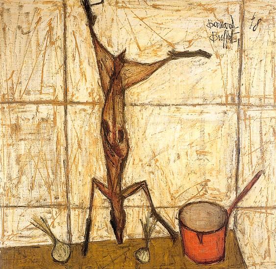 Lapin et casserole rouge, 1948 - Bernard Buffet