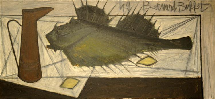 Still Life with Fish, II, 1949 - Bernard Buffet