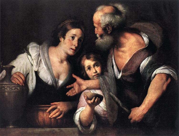 Prophet Elijah and the Widow of Sarepta - Strozzi Bernardo