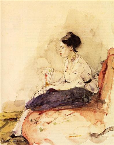 On the Sofa - Berthe Morisot