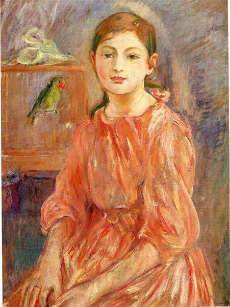 The Artist's Daughter with a Parakeet, 1890 - Berthe Morisot