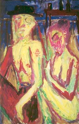 Billy and Traci, c.2001 - Billy Childish